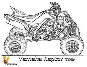Yamaha Raptor 700r atvs printable coloring page