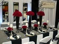 Red White And Black Wedding Table