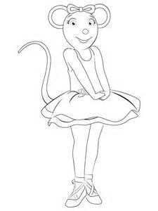 angelina ballerina coloring pages coloringpagesabccom