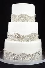 Elegant Silver Wedding Cake