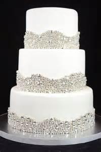 Elegant Wedding Cake With Silver