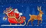 Christmas Santa Claus Sleigh