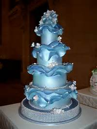 Beautiful Blue Wedding Cake