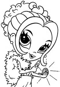 coloring pages for kids, girls coloring pages, lisa frank coloring ...