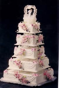 Square Wedding Cake Designs