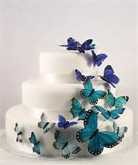 Blue Butterfly Cake Decorations