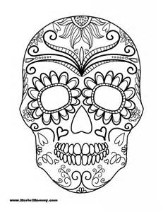 Click here to download the pdf for the sugar skull printable.