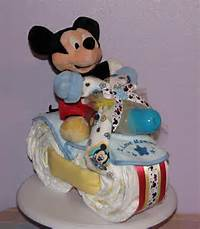 Mickey Mouse Motorcycle Diaper Cake