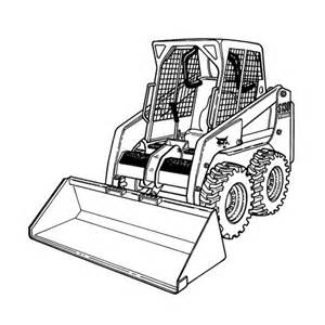 skid steers colouring pages