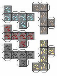 Minecraft Papercraft Diamond