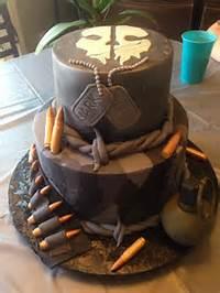 Ghost Call Of Duty Birthday Cake
