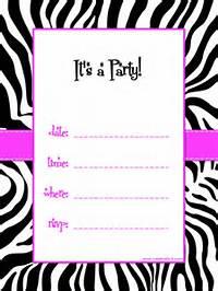 Free Printable Zebra Birthday Party Invitation Templates