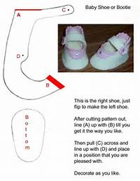 Fondant Baby Shoe Template For Shoes