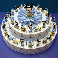 Mickey Mouse And Donald Duck Cake