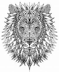 Lion Adult Coloring Pages Free Printables