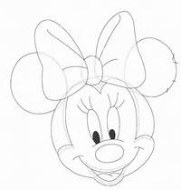 Minnie Mouse Face Drawings For Kids