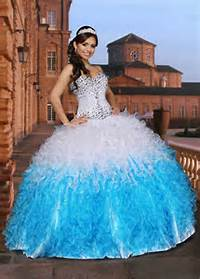 White And Turquoise Quinceanera Dresses