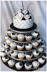 Black And White Wedding Cake Cupcakes