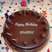 8th Chocolate Happy Birthday Cake For BHABHI