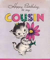 Happy Birthday Cousin Vintage