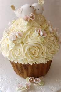 Golden Anniversary Love Birds Wedding Cake Cupcake Giant