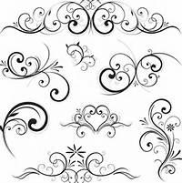 Fancy Swirl Design Vector Free