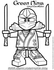 Ninjago Green Ninja Lloyd Garmadon Coloring Page | H & M Coloring ...