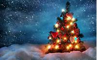 Beautiful Christmas Tree Desktop Wallpaper HD