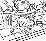 Fire Minion Printable Coloring Pages