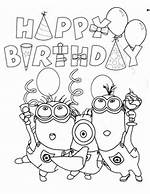 Birthday Minion Coloring Page