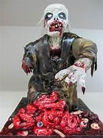 Scary Halloween Zombie Cakes