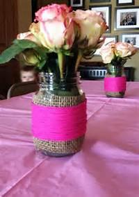 Flowers In Mason Jar Baby Shower Ideas Girl