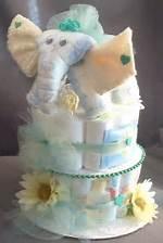 Elephant Baby Shower Diaper Cake Centerpiece