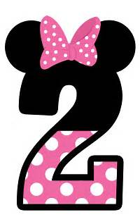 Minnie Mouse Number 2 Clip Art