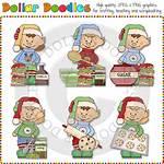 Elves Baking Cookies Clip Art