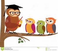 Cartoon Teacher With Students