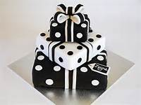 Elegant Black And White Birthday Cake