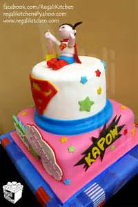 Supergirl Happy Birthday Cake