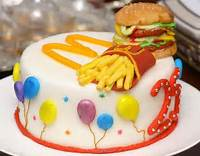 McDonalds Happy Birthday Cake