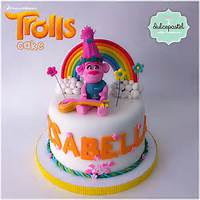 Troll Birthday Cakes Poppy