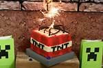 Minecraft TNT Cake Ideas