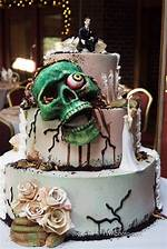 Zombie Wedding Cake Skull