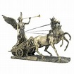 Bronze Nike with Trumpet on Two Horse Chariot Greek ...