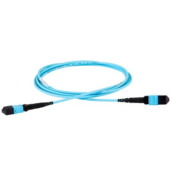 9976 150M 12 STRAND MTP MPO OM3 50//125 MICRON FIBER OPTIC PATCH CABLE 10GB AQUA