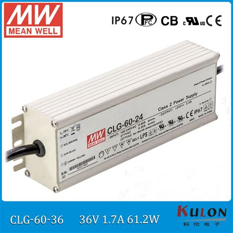 s 1 item MEAN WELL HLG-240H-20A 240 W Single Output 12 A 20 Vdc Output Max IP65 Rated Switching Power Supply