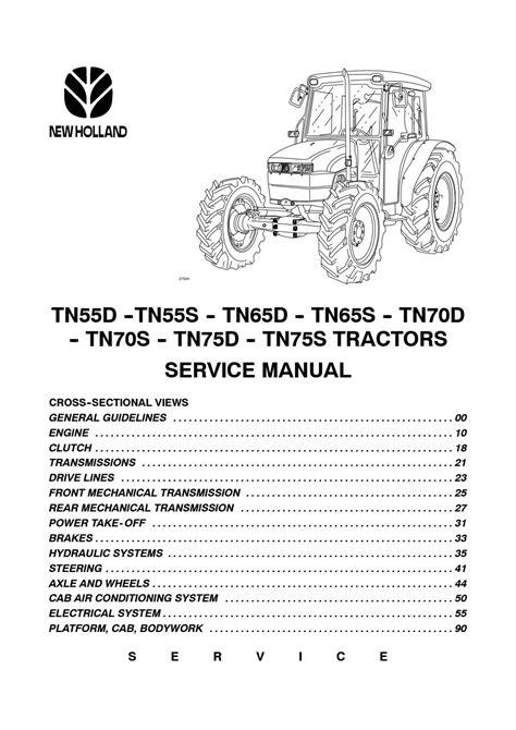 New Holland Tractor TDD serie TD60D TD70D TD80D TD90D TD95D Manual del operador