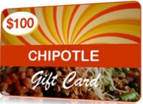 $100 Chipotle Gift Card