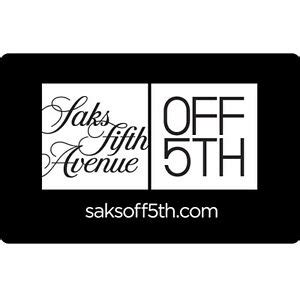 $100 Saks Fifth Avenue Gift Card