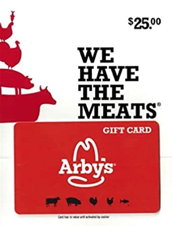 $25 Arby's Gift Card