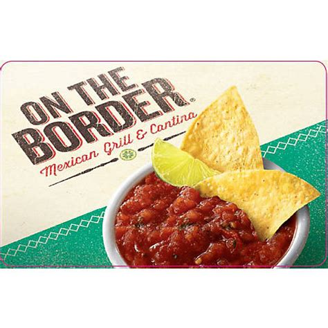$25 On The Border Mexican Grill Cantina Gift Card